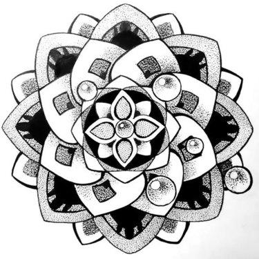 Best Dotwork Mandala Tattoo