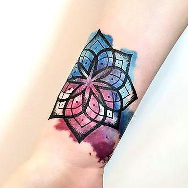 Best Mandala on Wrist Tattoo