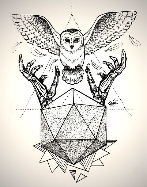 Best Geometric Owl Tattoo Design