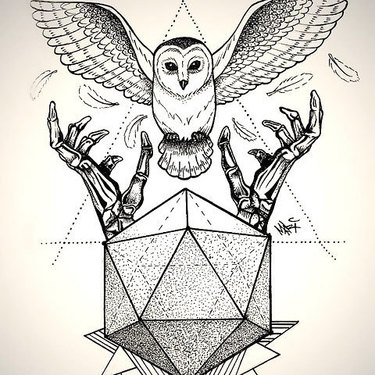 Best Geometric Owl Tattoo