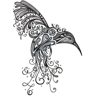 Best Ornate Hummingbird Tattoo