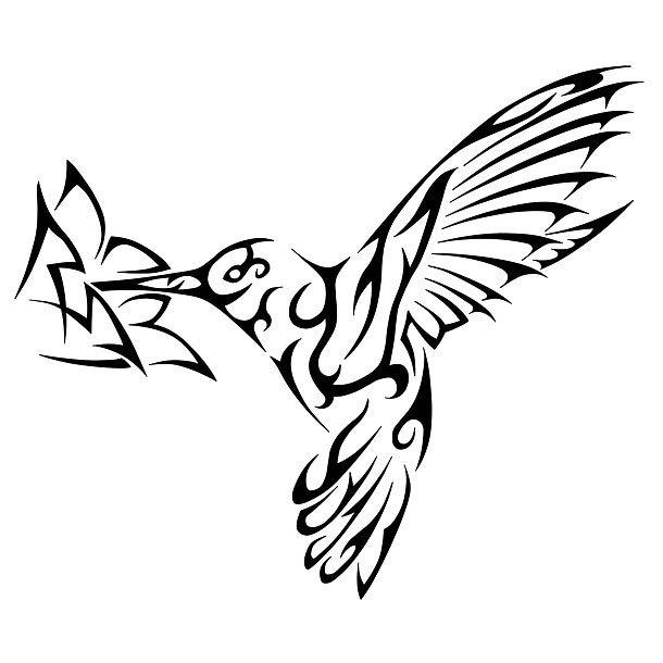 Best Tribal Hummingbird Tattoo Design