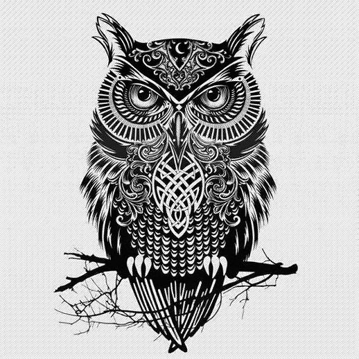 Best Gothic Owl Tattoo Design