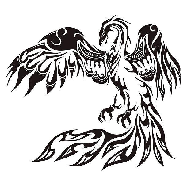 Best Tribal Phoenix Tattoo Design