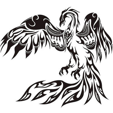 Best Tribal Phoenix Tattoo
