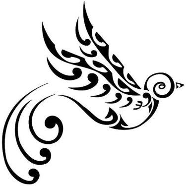 Best Tribal Swallow Tattoo