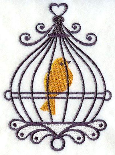 Bird In Birdcage Tattoo Design