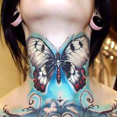 Best Neck Women Tattoo