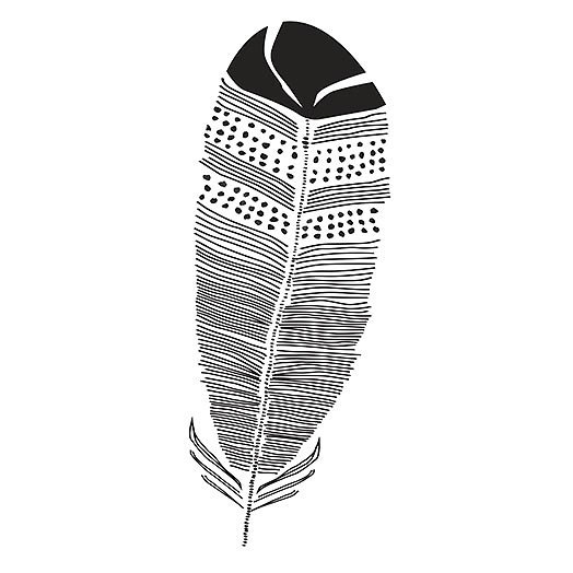 Black Feather Tattoo Design