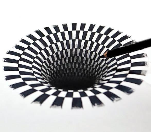 Black Hole Tattoo Design