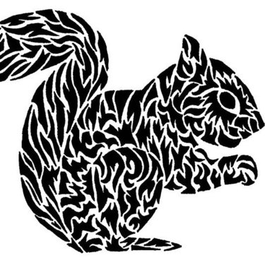 Black Squirrel Tattoo