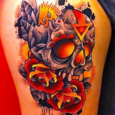 Best New School Skull Tattoo