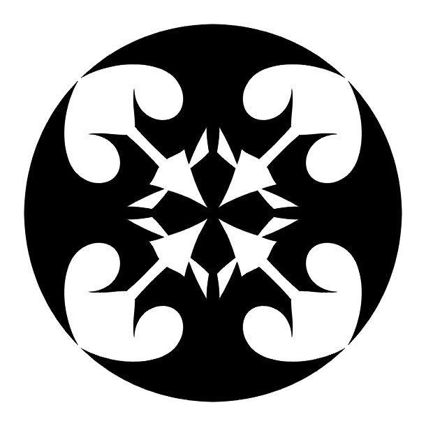 Blackwork Sign Tattoo Design