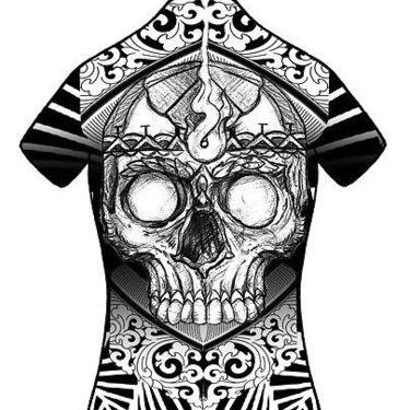 Blackwork Skull Tattoo