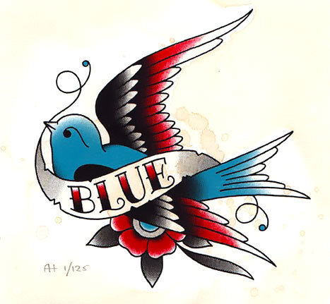 Blue Tattoo Design