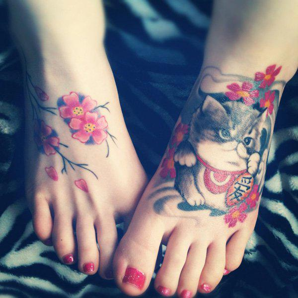 Cute Chinese Kitty Tattoo Idea