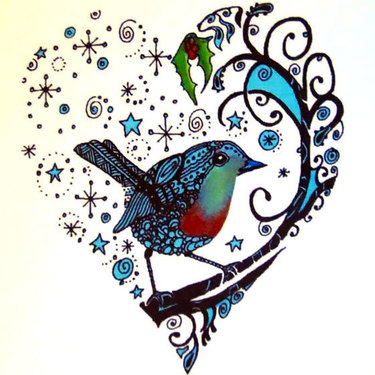 Bluebird Heart Tattoo