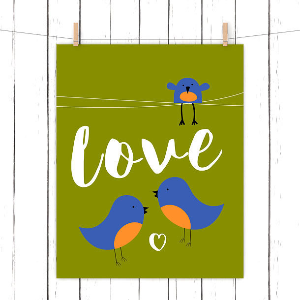 Bluebird Love Tattoo Design