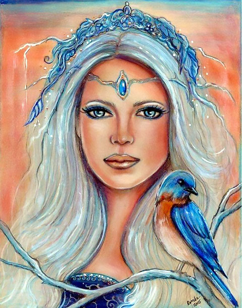 Bluebird Princess Tattoo Design
