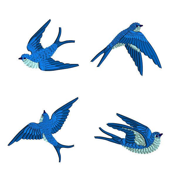 Bluebirds Tattoo Design