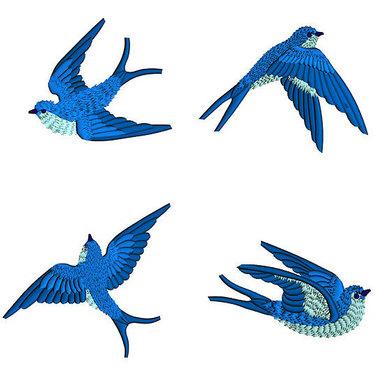 Bluebirds Tattoo