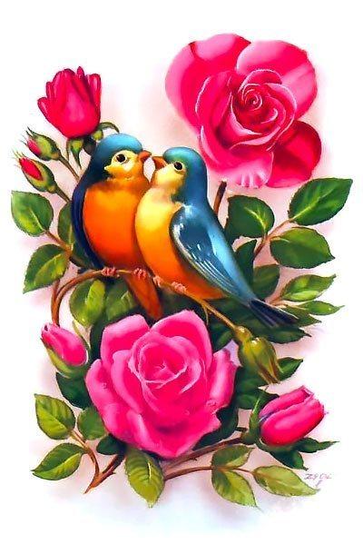 Bluebirds In Love Tattoo Design