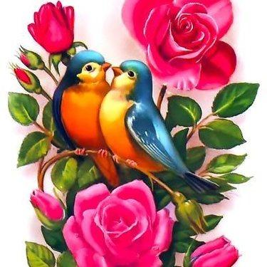 Bluebirds In Love Tattoo