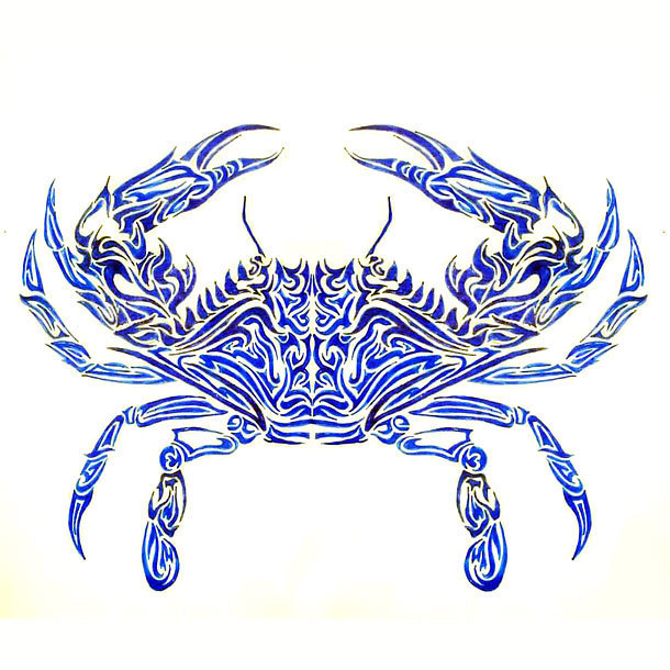 Blue Crab Tattoo Design