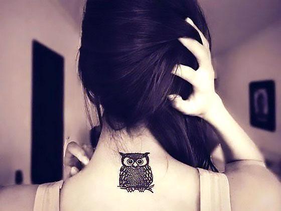 Best Owl on Neck Tattoo Idea