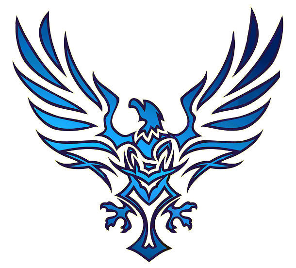Blue Eagle Tattoo Design