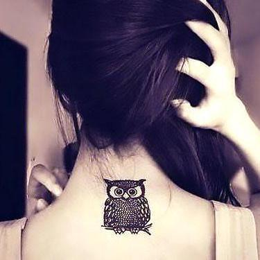 Best Owl on Neck Tattoo