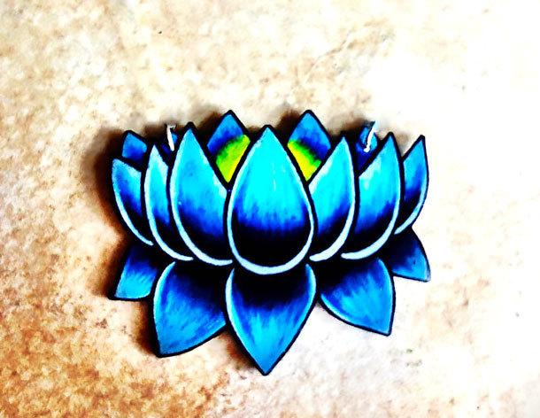 Blue Lotus Tattoo Design