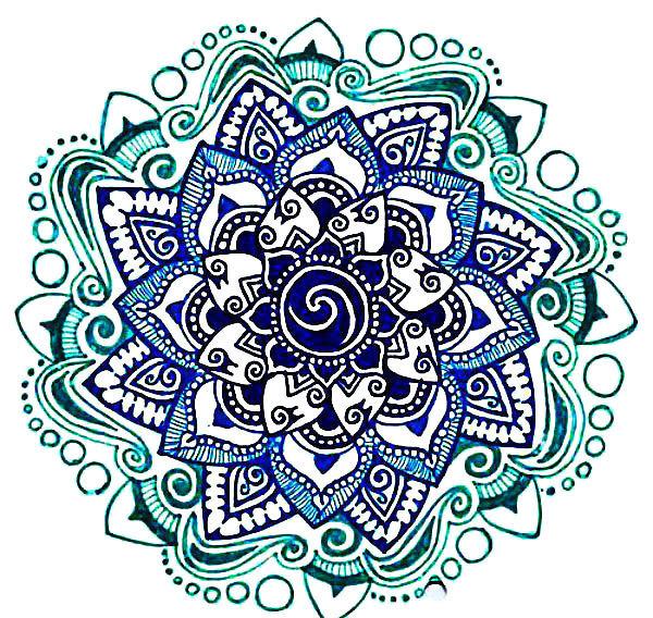 Blue Mandala Tattoo Design