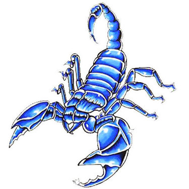 Blue Scorpion Tattoo