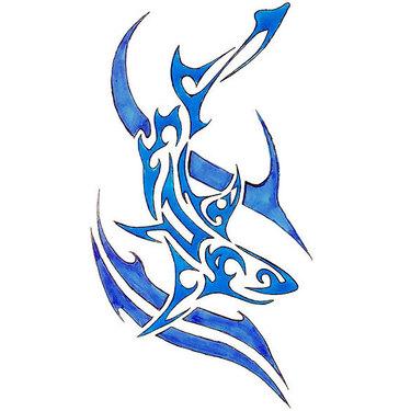 Blue Shark Tattoo