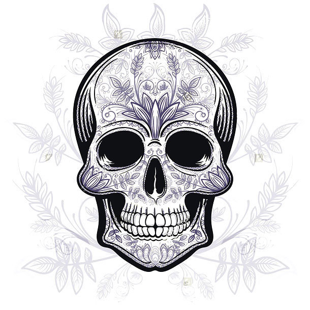 Blue Skull Tattoo Design
