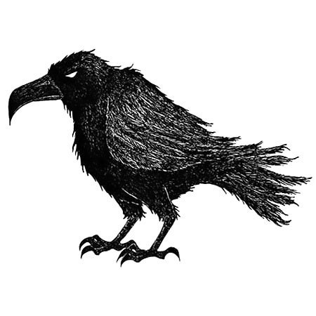 Bored Raven Tattoo Design