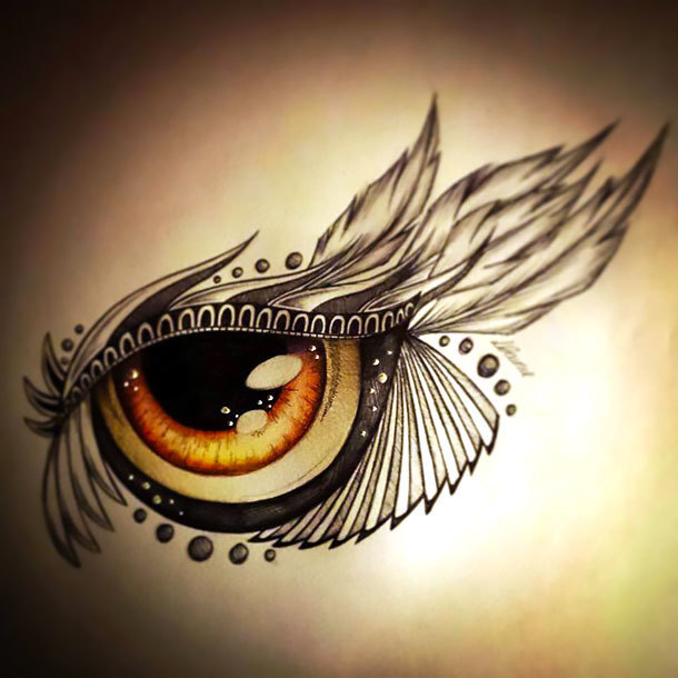 Brown Eye Tattoo Design