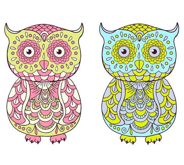 Cartoon Owl Tattoo Design