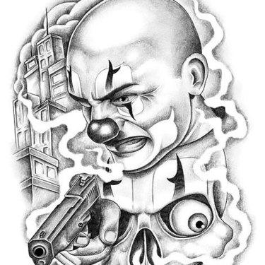 Chicano Clown Tattoo