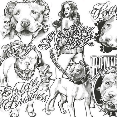 Chicano Dogs Tattoo
