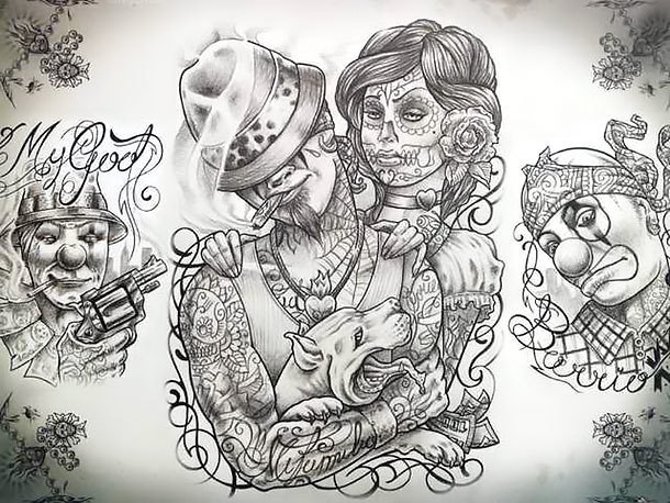 Chicano Ganster Tattoo Design