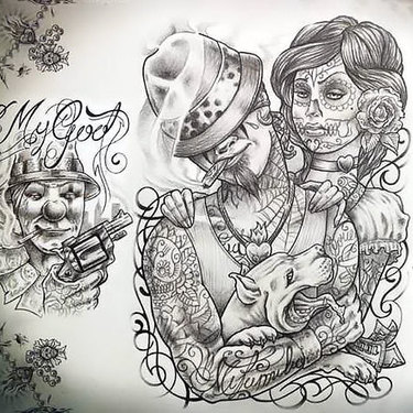 Chicano Ganster Tattoo