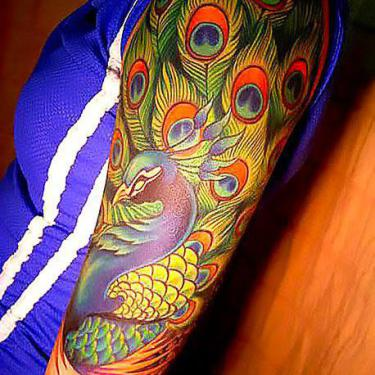 Best Peacock on Shoulder Tattoo