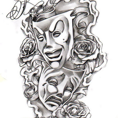 Chicano Masks Tattoo