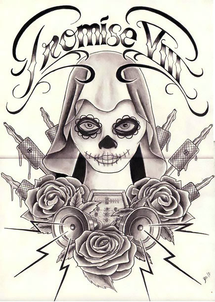 Chicano Promise Tattoo Design