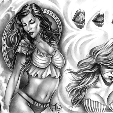 Chicano Women Tattoo