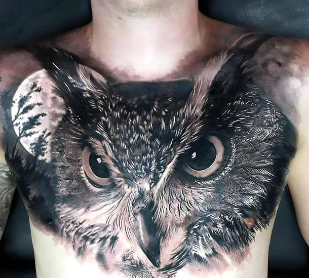 Best Realistic Owl Tattoo Idea