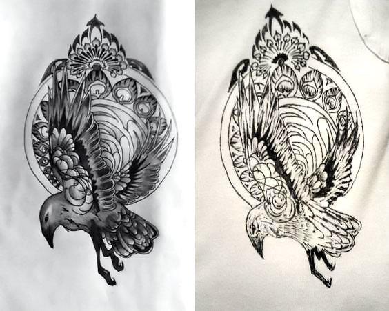 Cool Blackbird Tattoo Design