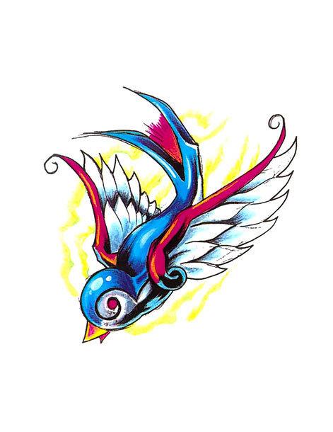 Cool Bluebird Tattoo Design